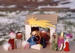 Einfache Krippe Selbst Basteln : basteln mit kindern kostenlose bastelvorlage advent winter und weihnachten weihnachtskrippe ~ Orissabook.com Haus und Dekorationen