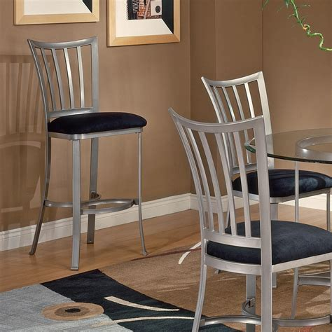 carls patio furniture delray hillsdale furniture delray 26 in pewter cushioned bar