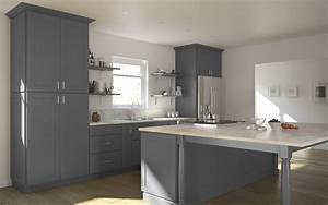 Grey Shaker - Ready To Assemble Kitchen Cabinets - Kitchen