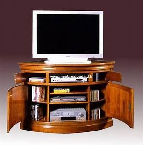 Meuble Angle Tv : meuble d 39 angle tv merisier louis philippe 2 portes 1 niche go1070 ~ Teatrodelosmanantiales.com Idées de Décoration