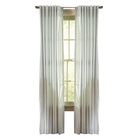 martha stewart living rainwater faux silk back tab curtain
