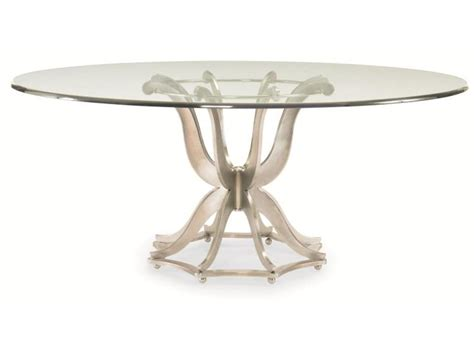 glass table base century furniture dining room metal base dining table with glass top 55a 307 west coast living