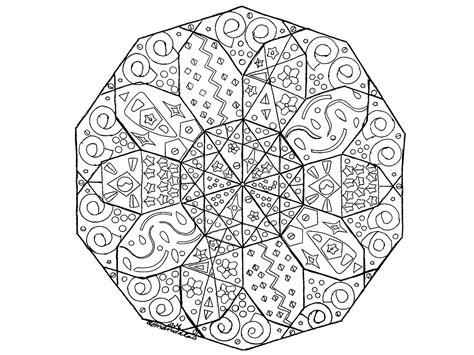 Coloring Mandala by Mandala Abstract M Alas Coloring Pages