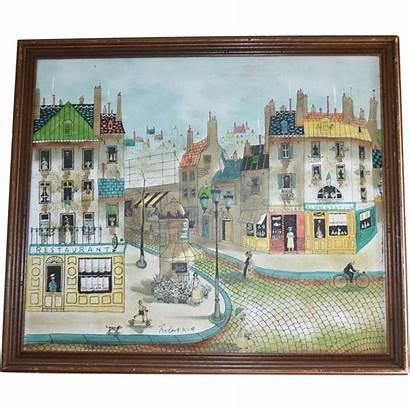Scott Artist Robert French Street Scene Painting