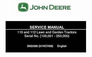 John Deere 110 And 112 Lawn Garden Tractor Service Repair