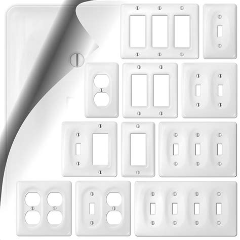 wall switch plate cover allena white ceramic outlet toggle