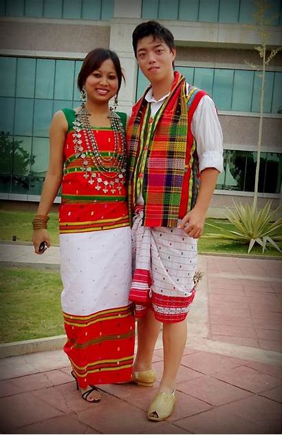 Traditional Tripura Costumes India Costume Meghalaya Culture