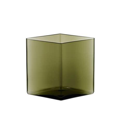 bureau bouroullec vase ruutu l 20 5 x h 18 vase iittala silvera