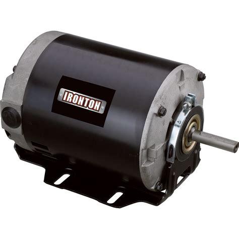 1 2 Electric Motor by Ironton Fan Motor 1 2 Hp 115v 230v Electric Motors