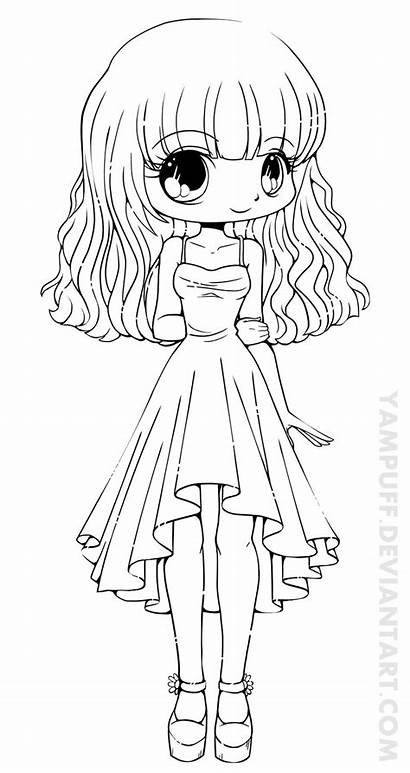 Coloring Chibi Printable Anime Friends