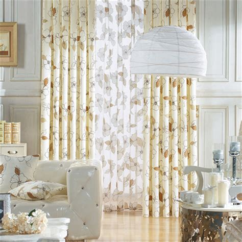 country style window curtains with floral patterns