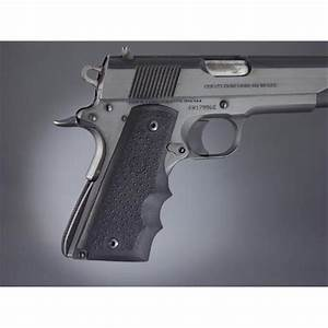 Hogue U00ae Rubber Wraparound Grips With Finger Grooves  Colt