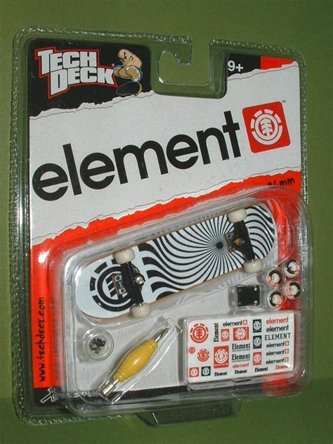 ebay tech deck skatepark tech deck element swirl black trucks fingerboard 96mm