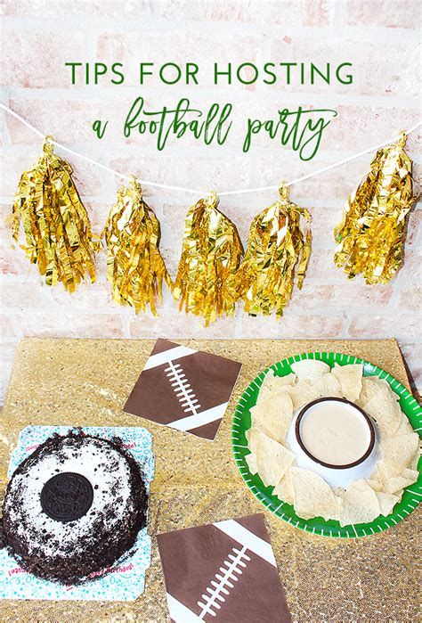 Tips For Hosting A Football Party • Super Bowl Party Ideas