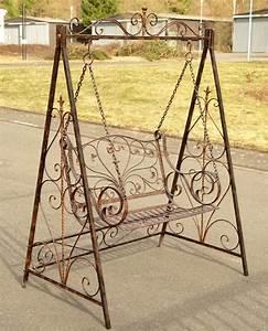 Banc De Jardin Fer Forgé : balancelle en fer forge banc de jardin a bascule meuble ~ Dailycaller-alerts.com Idées de Décoration
