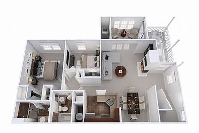 Apartment Bedroom Sunroom Floor Fireplace Plan Plans