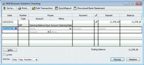 How To Use The Account Register In Quickbooks