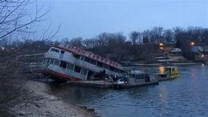 party boat pulled from lake of the ozarks krcg With boat lettering lake of the ozarks