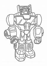 Rescue Coloring Bots Pages Popular sketch template