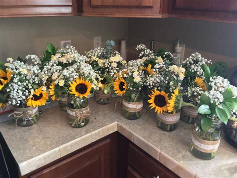 Our rustic sunflower centerpieces Sunflower wedding