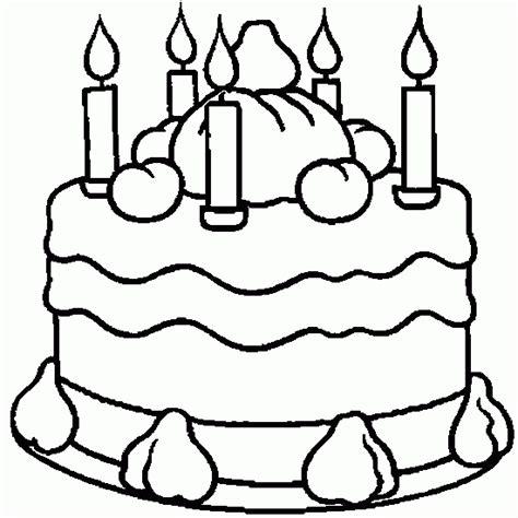 birthday cake coloring page crafts  worksheets  preschooltoddler  kindergarten