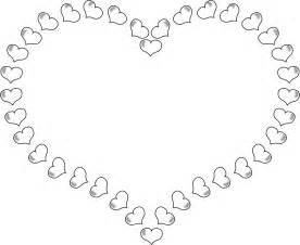 Black and White Heart Clip Art Borders