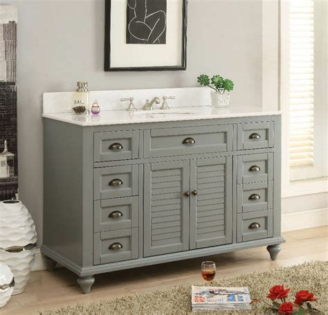 Cottage Style Vanities For Bathrooms by 49 Quot Benton Collectiion Cottage Style Grey Glennville