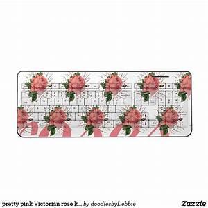 Pretty, Pink, Victorian, Rose, Keyboard