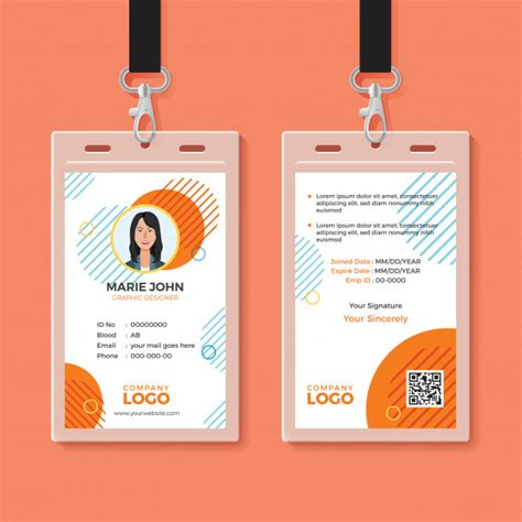 template id card gratis multipurpose office id card template vector premium