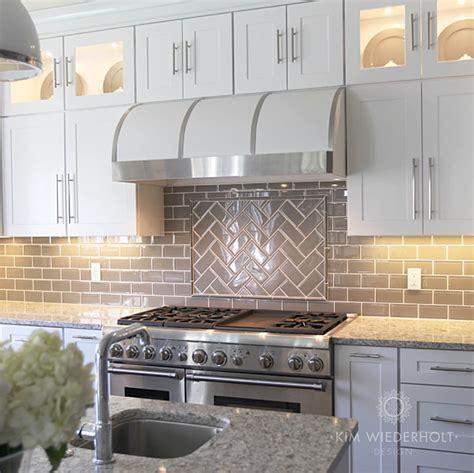 White Glass Subway Tile Kitchen Backsplash by White And Gray Kitchen Design With Gray Glass Subway Tile
