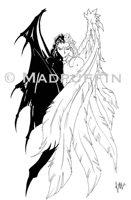 Angel Devil tattoo design by madpuffins on DeviantArt