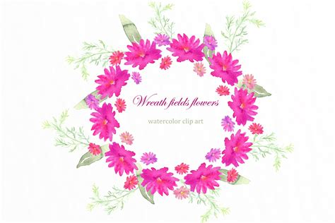 field  pink flowers clipart clipground
