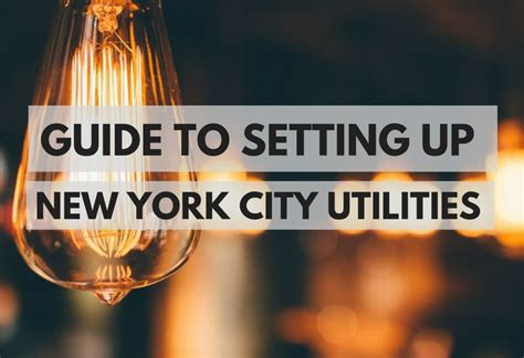 guide  setting  utilities   york city