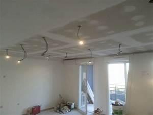 Pistolet Peinture Plafond : r alisation d 39 un faux plafond en placo ba 13 pos sur ~ Premium-room.com Idées de Décoration