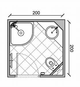 Plan Petite Salle De Bain : exemples de plans pour gain de place dans de petites ~ Melissatoandfro.com Idées de Décoration