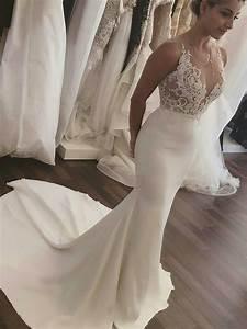 Robe De Mariee Sirene : robe de mari e sir ne dentelle longue sexy transparente ~ Melissatoandfro.com Idées de Décoration