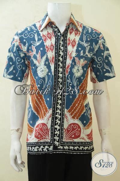 baju kemeja batik lelaki modern baju batik lengan pendek