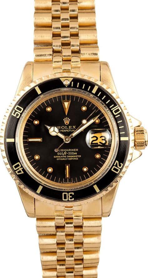 1968 Rolex Submariner 1680 18K Yellow Gold - Submariner ...