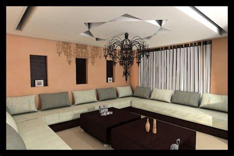 faux plafond salon marocain