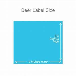 Beer label by bottleyourbrand for Beer bottle label size