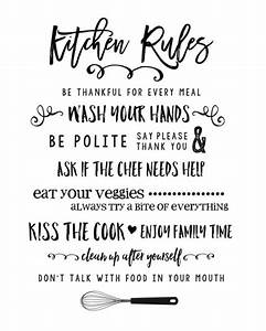 25+ best ideas about Kitchen rules on Pinterest Verses