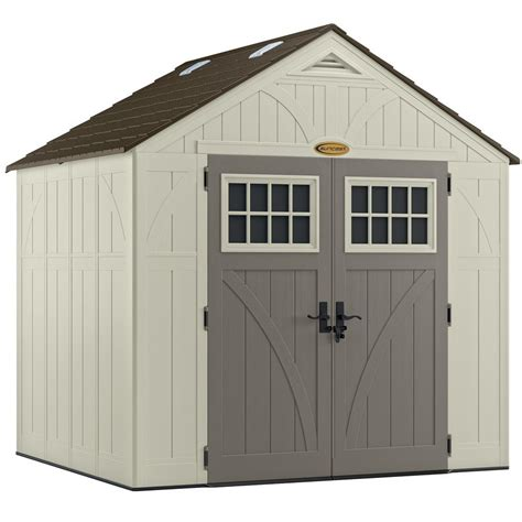 home depot suncast shed suncast tremont 174 8 ft x 7 ft resin storage shed lowe s
