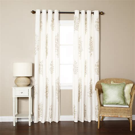 Best Curtain Panels by Best Home Fashion Inc Tree Embroidered Grommet Top Faux