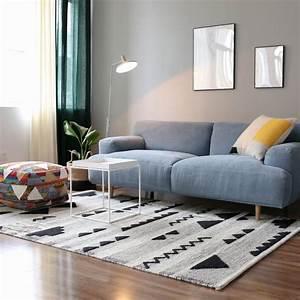 Tapis Salon Blanc : tapis pas cher design et contemporain grand tapis salon ~ Teatrodelosmanantiales.com Idées de Décoration