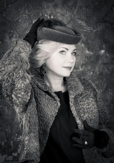 beauty fashion woman portrait vintage style retro stock image image 35929579