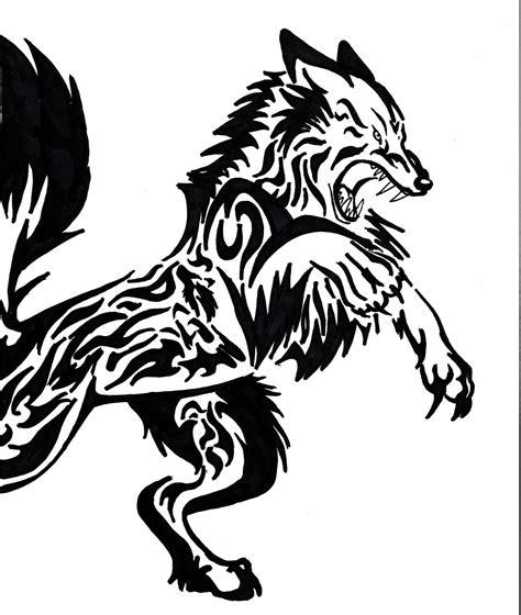 tribal wolf tattoos designs  ideas