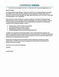 best management cover letter examples livecareer With cover letter for senior management position