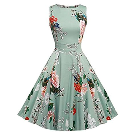 pink fit and flare dress vintage 50 39 s dresses amazon com