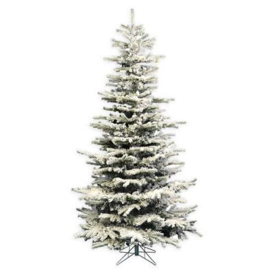 heavy flocked christmas tree clearance pre lit slim flocked artificial tree bed bath beyond