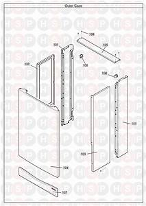 Potterton Performa 24 He System  Outer Case  Diagram